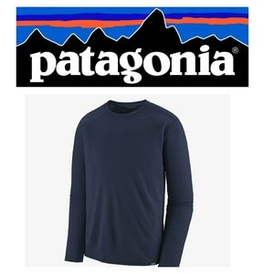 Patagonia Capilene Base Layer LS Shirt Navy Blue S